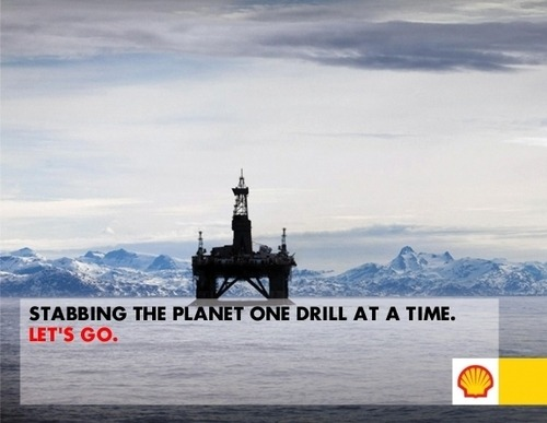 ne yazık ki hedef Kuzey Kutbu saveplanetearth:  Shell in the Arctic @ Arctic Ready