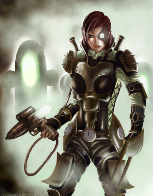 SteamPunk Effect: FemShepard by ~RedBlooded —-x—- More: | Steampunk | Random |