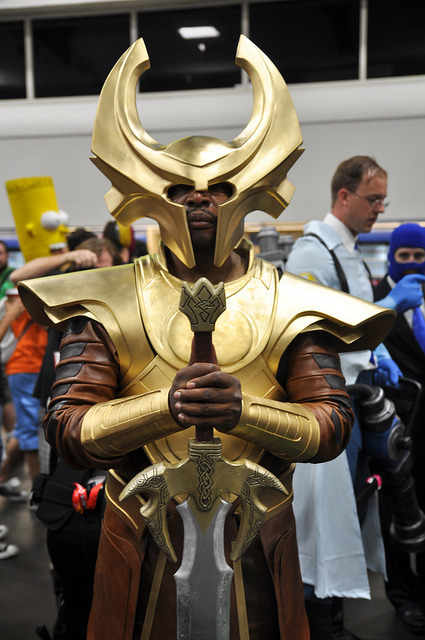 luthiencaprae:  Heimdall Cosplay SDCC 2012 by AaronBerkovich on Flickr. Wow!