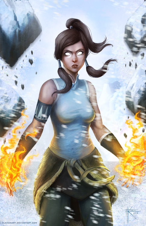 Avatar Korra by ~ElkhanArt —-x—- More: | Cartoons | Random |