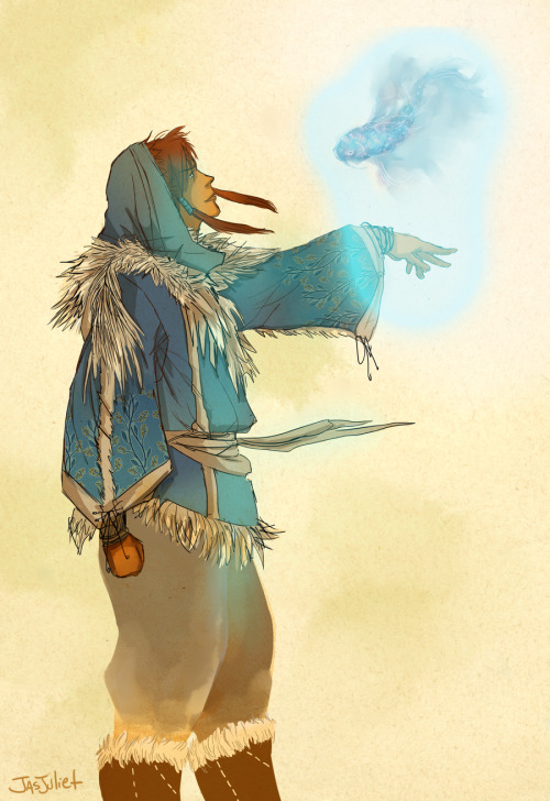 cassjaytuck:  general-iroh-all-the-way:  lovelymasoka:  Traditional Korra by *jasjuliet  that looks amazing!  woah!