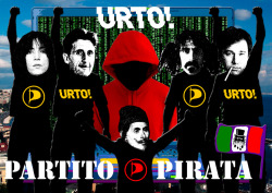 "Poster for the event . ""Liquid Democracy - The Pirate Party"" #napolipirata #partitopirata Pan Palazzo delle arti di Napoli - Urto! Collettivo Artisti Napoletani - Partito Pirata Napoli with Vito Campanelli e Adriano d'Angió curated by Domenico Dom Barra e Domenico Espositohttp://www.piratpartiet.it/mediawiki/index.php?title=PP_LinkLink:Partito Pirata Internazionalehttp://www.pp-international.net/Partito Pirata Italiawww.votopirata.itPartito Pirata Napolihttp://www.facebook.com/pages/Partito-Pirata-Napoli/252861501486849?ref=hl"