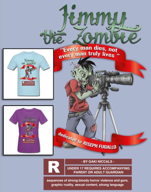 New Shirt ! Jimmy the Zombie . Available at US : http://gakirules.spreadshirt.com/ or www.redbubble.com/gakirules EUROPE : http://gakirules.spreadshirt.fr/