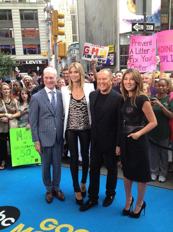 With the Project Runway gang today in Times Square! Project Runway airs TODAY! 9pm EST on Lifetime!!!!!