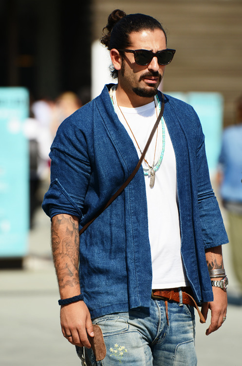 Double denim for men