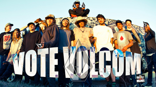 Vote for Youth Against Establishment! Volcom's entry in Snowboarder Magazine's Battle of the Brands current match up is now LIVE! Click photo to go vote, every Facebook account can vote once a day. Thanks for the support!