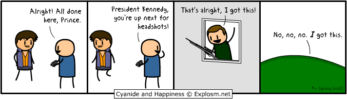 An Excuse to Reuse Prince, Cyanide & Happiness, #2851, #comic, #humor