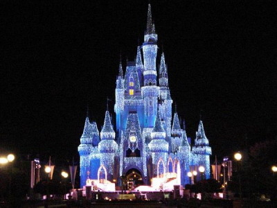 Disney World in the winter, Orlando, Florida