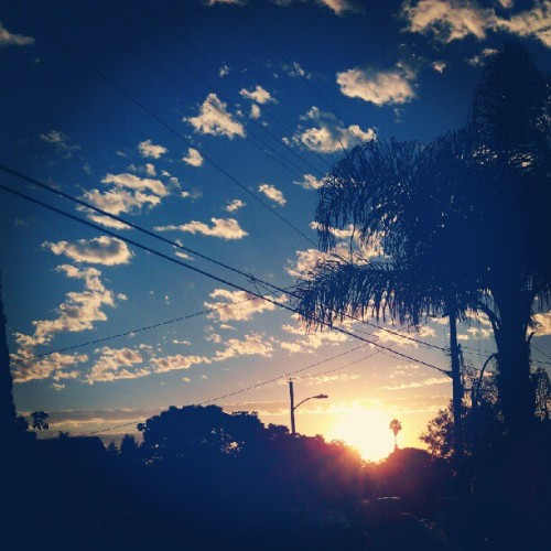 Good morning #LA #sunrise #California #scenery #instamood  (Taken with Instagram)