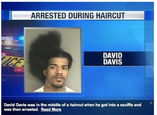 list25:  Arrested during a haircut