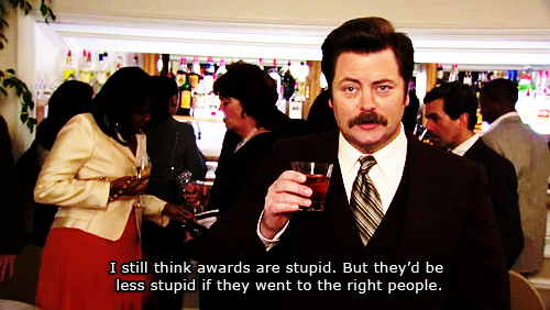 Ron Swanson cares not for Emmys.