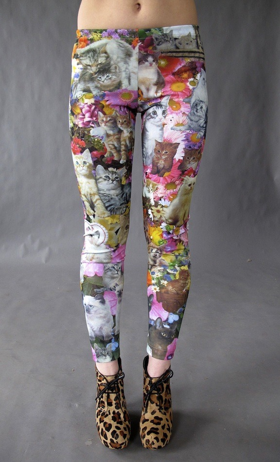 NEED Photo via Kitty Garden Party Leggings by Joseph Aaron Segal — Kickstarter