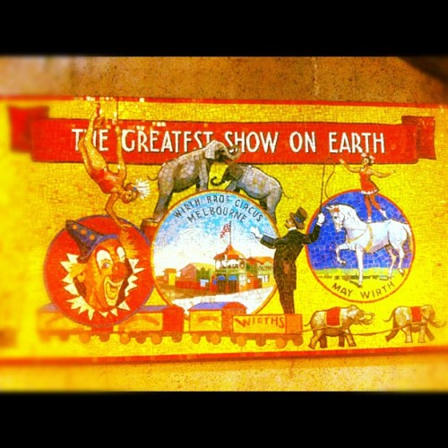 The greatest show on earth #melbourne #tiles #circus (Taken with Instagram at The Arts Centre)