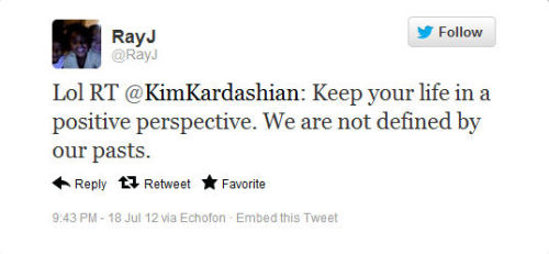 Ray J Trolls Kim Kardashian On Twitter