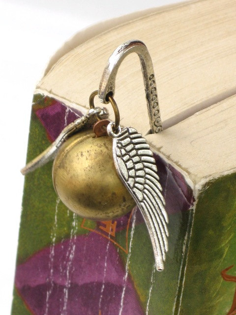 Steampunk Harry Potter Magical Golden Snitch Bookmark