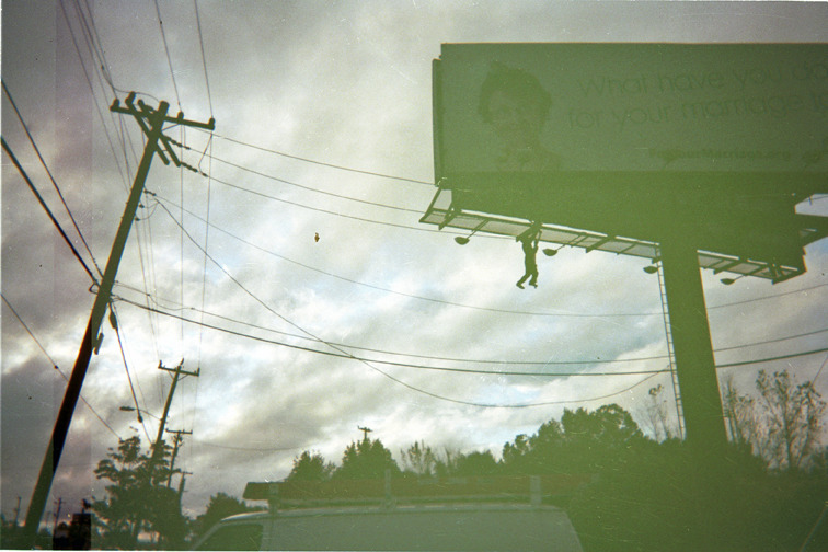Billboard mishap. Photo by Merv Austin. ©Photoworks945