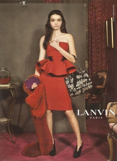 "Another ""real"" girl for the Lanvin fall 2012 ad campaign shot by Steven Meisel. -JK [via Fashionologie]"