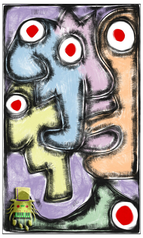 Idiots on ecstasy - 2012 - Digital sketch on smartphone app #art #digitalart