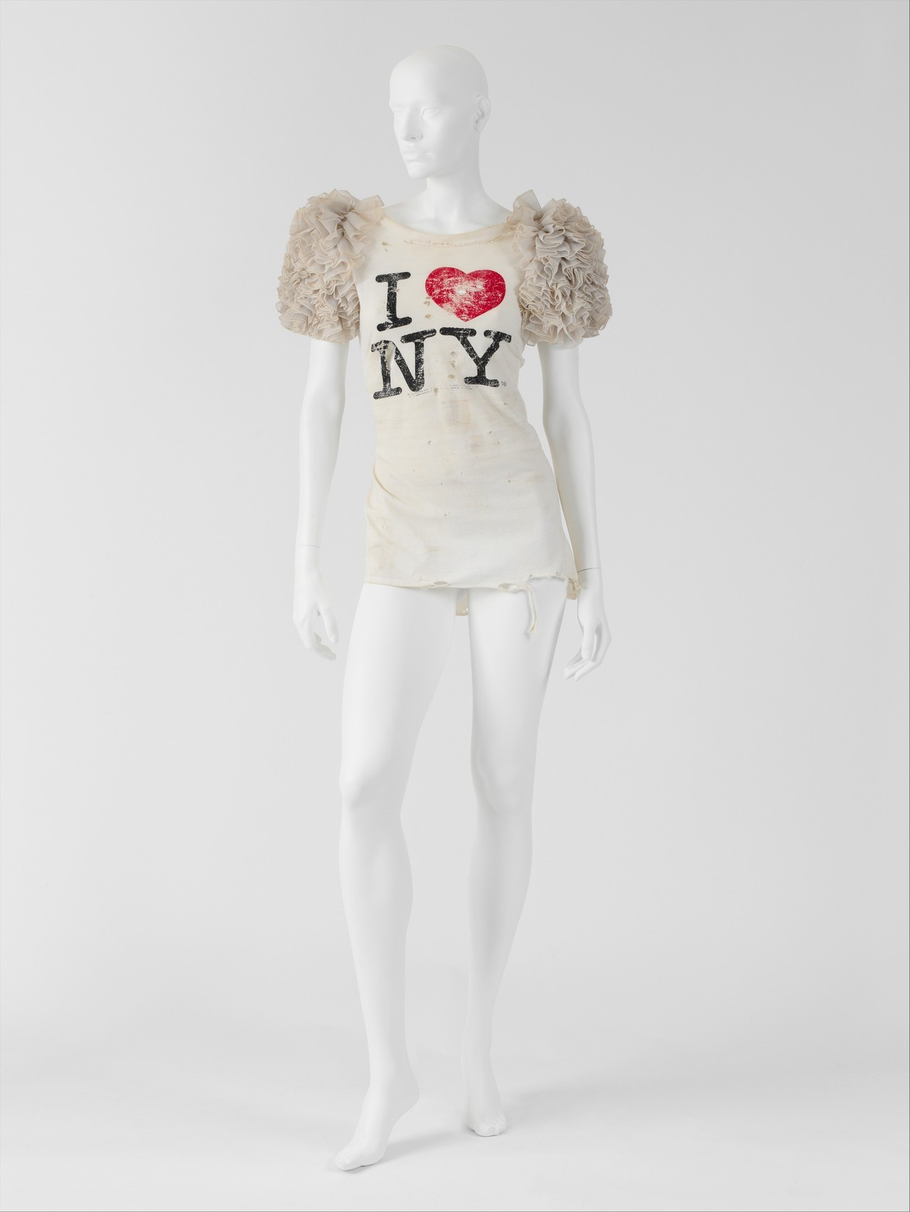 Miguel Adrover - I Love New York, 2000. Cotton, cotton/silk blend; synthetic