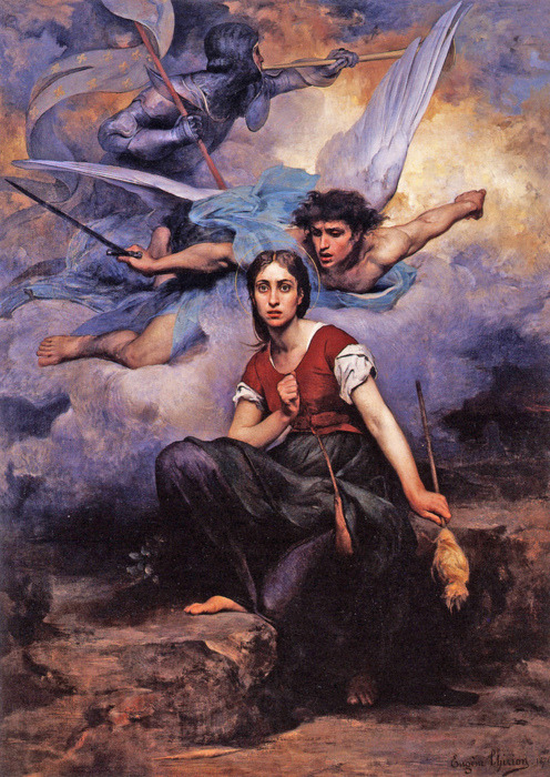 Eugène Thirion (???), Jeanne d'Arc, 1876, Chautou, Church of Notre Dame.