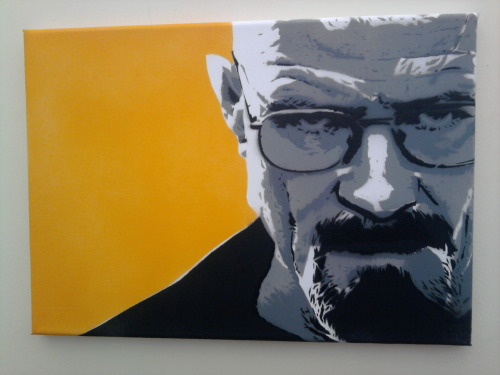 breakingbadamc:  Heisenberg in Spraypaint