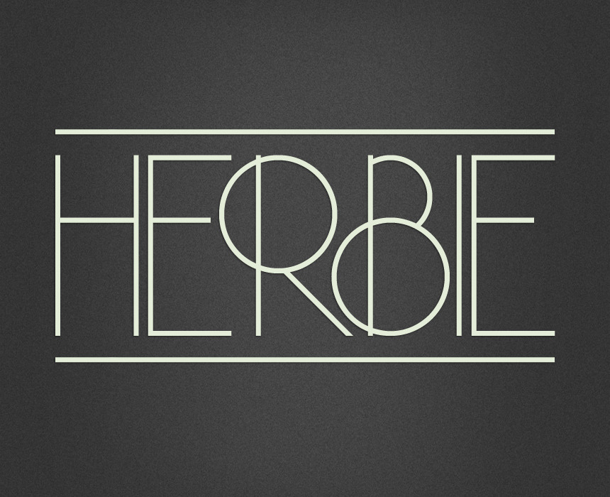 surrogateself:  Herbie Herbie is a uppercase display font with alternates on every character (lowercase), based only on circles and geometric lines. Herbie is inspired by, as the name might indicate, Herb Lubalin's work and the decorative style and kerning of his era. One license is valid for 1 computer. View it and download it here
