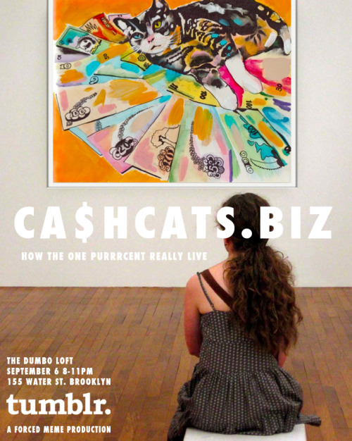 cashcats:  dear C$C$ fans we r creating a special art partie just 4 u. rsvp here. (space is limited) u can submit artwork 4 consideration in the show here.  Cats + Cash + Art + Partie