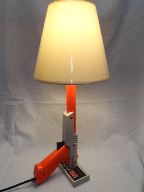 Nintendo Zapper and Controller Lamp.(Trigger Operated). From JUNKBOXCUSTOMS