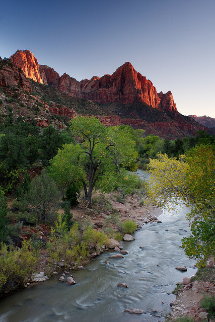 The Watchman by sufw on Flickr.Zion National Park, Utah, USA