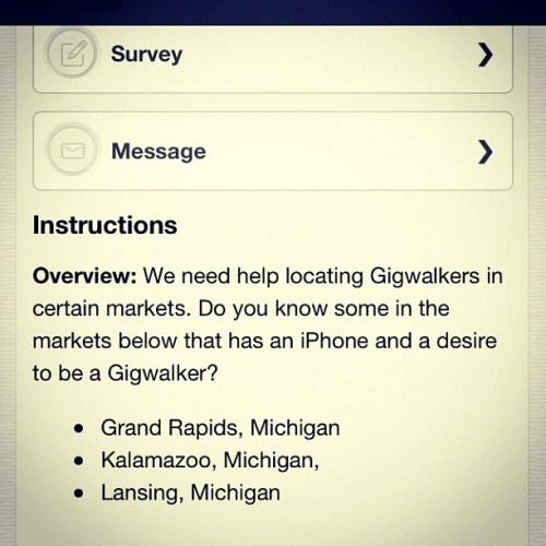 @gigwalk #michigan #ios #app #work #microtasking  (Taken with Instagram)