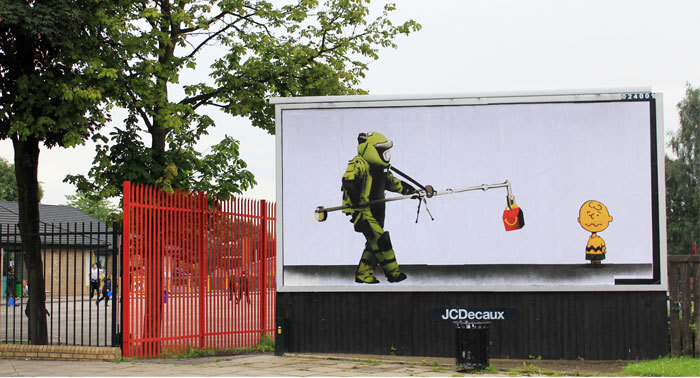 banksystreetart:  24 artists from 8 countries create the UK's largest subvertising campaign… http://brandalism.org.uk/gallery-page/  @brandalismUK #brandalism