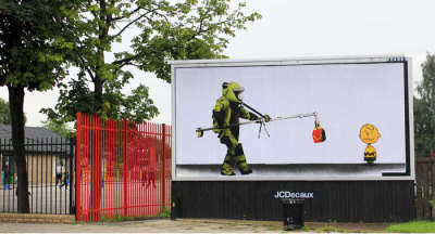 subvertising = #CounterCulture right on Banksy
