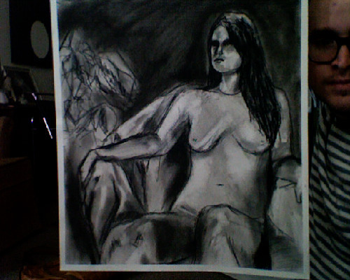 emma requested more of my charcoal pieces so i *busted* out the boobies drawing. i'm sorry it sucks but her vajayjay was a little much for this gay boy.