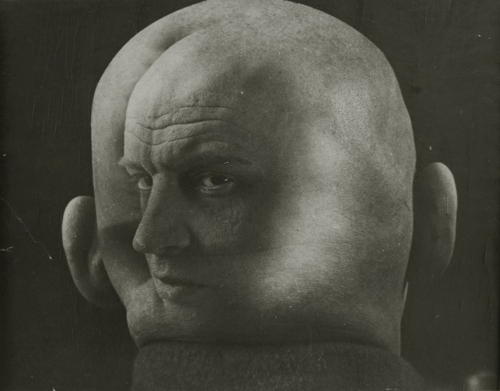 "Impressed by the photomontage of the German Dadaists, Rodchenko began his own experiments in the medium, first employing found images in 1923, and from 1924 on shooting his own photographs as well. His first published photomontage illustrated Mayakovsky's poem, ""About This,"" in 1923."