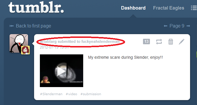 So Tumblr does this with submissions on the dashboard now.