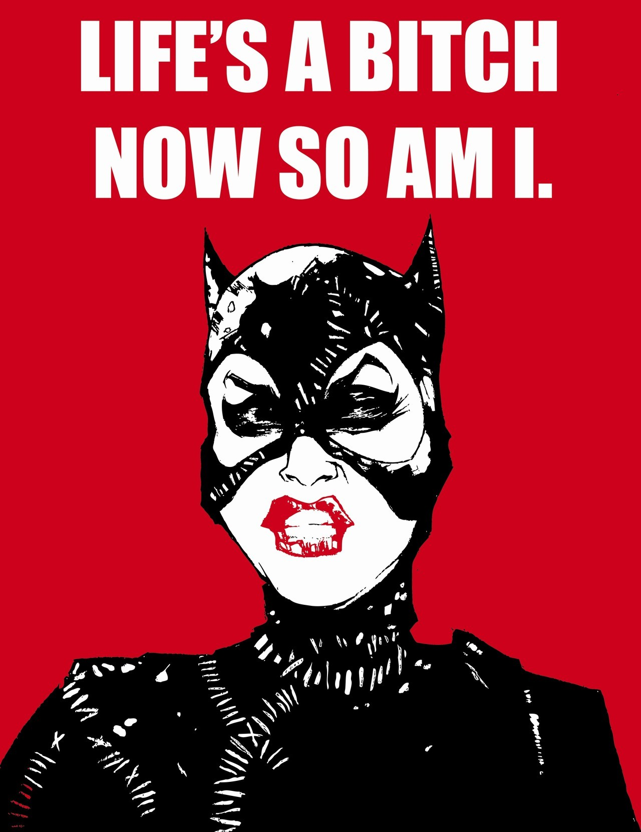 "Special tribute to Catwoman in ""Batman Returns"" I will always love this version of Catwoman, she was funny, sexy, fierce and very witty. She has some of the most quotable dialogue too! Pfeiffer forever! Illustrated by Christian Cimoroni"