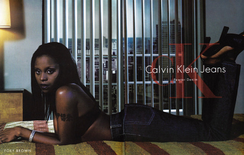 Foxy Brown photographed by STEVEN MEISEL for Calvin Klein Jeans 1999