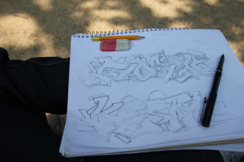 sketchin in the national mall in washington DC