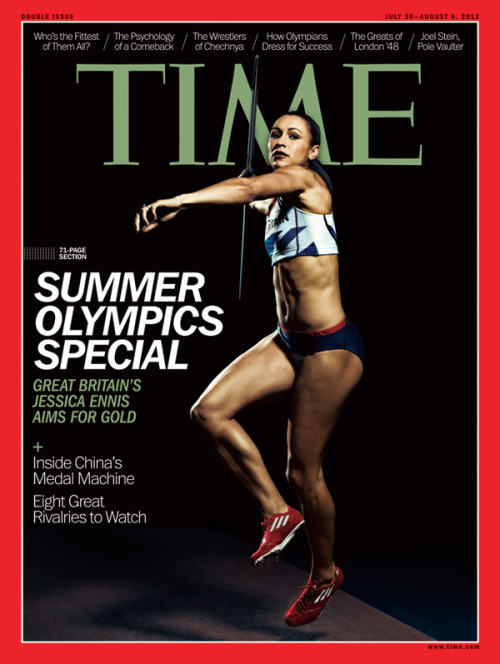 For our Summer Olympics special, readers in the Middle East, Africa, and Europe will see Jessica Ennis on the cover for the July 30 issue of TIME.  (Photograph by Levon Biss for TIME)