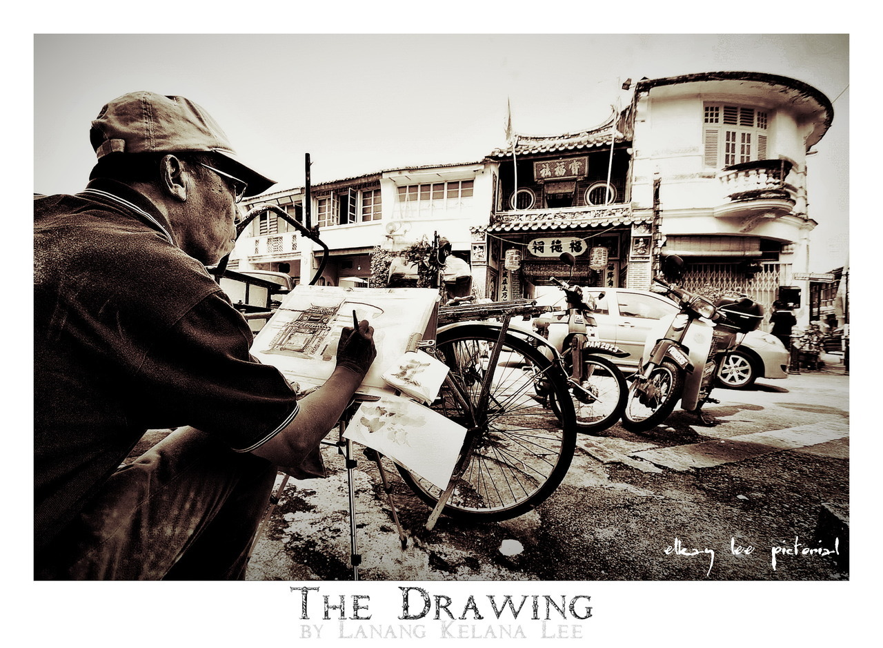 The Drawing 8th July 2012 | Penang, Malaysia Nikon D700 | Sigma 10-20mm | ISO200 | 10mm | f/4 | 1/400s  post processing:- 2 frames  panorama stitching with The Panorama Factory / tone mapping with Dynamic-Photo HDR / color casting in ACDSee Pro 5