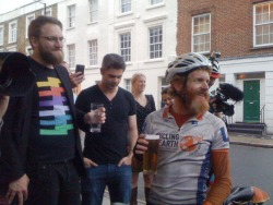 Sean Conway has just returned from a round-the-world cycle trip, raising money and awareness for SolarAid. Originally attempting a world record, averaging 180 miles a day, he was hit by a truck in America travelling at 55mph and fractured his back. Where most people would take that as a sign (or excuse?) to stop, Sean didn't. Not only did he continue his ride, he managed to maintain an epic 140 miles a day average. Having been a commuter cyclist for the last couple of years, those distances are so huge I can't fully comprehend them. Sean knew he wouldn't be able to realistically beat the record, so instead his focus shifted to his fundraising and awareness-raising of SolarAid. And on his return, he spoke about how this focus kept him going through some of the toughest challenges he's ever faced. Just goes to show how much of a motivator it can be to align yourself to something bigger, something that makes a difference. For all the facts and stats of Sean's trip click here: http://cyclingtheearth.co.uk/my-blog/2012/07/cycling-the-world-in-figures/ Sean is raising money for SolarAid's work in Zambia. Click here to support: http://www.justgiving.com/bike12