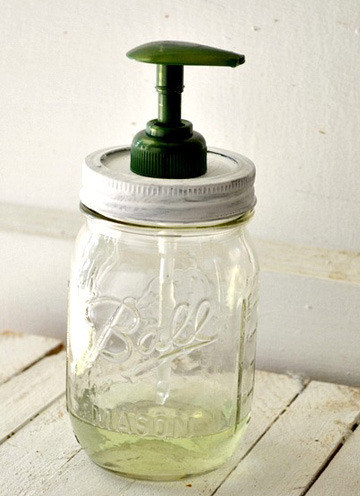 Mason Jar Soap Dispenser {How to} Found at: sheknows
