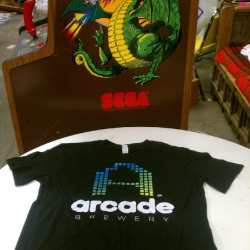 wearecareful:  the @arcadebrewery kickstarter shirts are in! #beer #Chicago (Taken with Instagram)