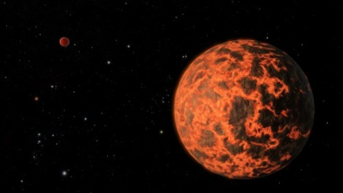 "ikenbot:  Possible Alien Planet Smaller Than Earth May Be Lava World Illustration:  An artist's illustration of the alien planet UCF 1.01, a potential exoplanet 33 light-years from Earth that may be covered in lava. Credit: University of Central Florida Scientists have discovered what appears to be an alien planet just two-thirds the size of Earth, a heat-blasted world perhaps covered in molten lava, a new study reports. Astronomers discovered the newfound alien planet, known as UCF-1.01, using NASA's Spitzer Space Telescope. The diminutive world is just 33 light-years away, making it a near neighbor of Earth in the cosmic scheme of things. ""We have found strong evidence for a very small, very hot and very near planet with the help of the Spitzer Space Telescope,"" study lead author Kevin Stevenson, of the University of Central Florida (UCF) in Orlando, said in a statement. ""Identifying nearby small planets such as UCF-1.01 may one day lead to their characterization using future instruments."""