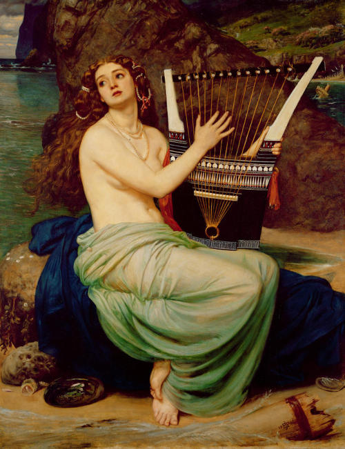 colourthysoul:  Sir Edward John Poynter - The Siren (1864)