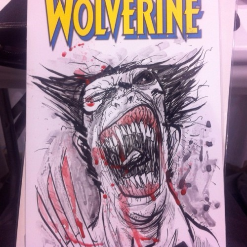If I did Wolverine… #painting #artists #conventioncommissions #bengoesinsane #art #drawing  (Taken with Instagram)