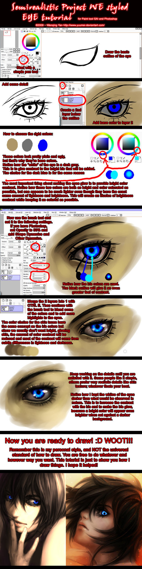 Semirealistic Eye Tutorial by `yuumei