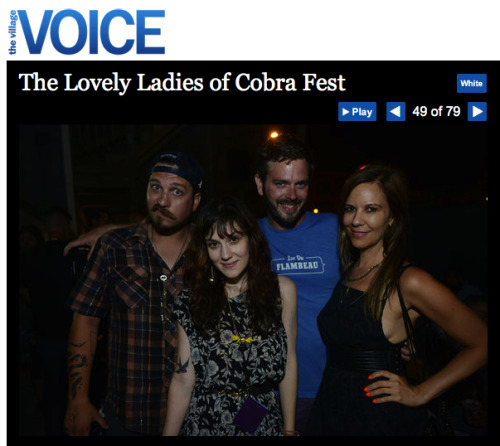 GPOY(VV): i never thought i'd make it into The Village Voice living in Chicago, but alas it has happened thanks to this past weekend's Pitchfork after party, Cobrafest. click through to see all the 'lovely ladies'. oh, and for the record, i have no idea who those girls even are (hence the facial expression) haha.