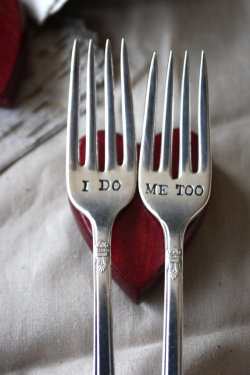 etsygoodies:  (via I Do Me Too Fork Set 1847 Rogers Bros by ForSuchATimeDesigns)