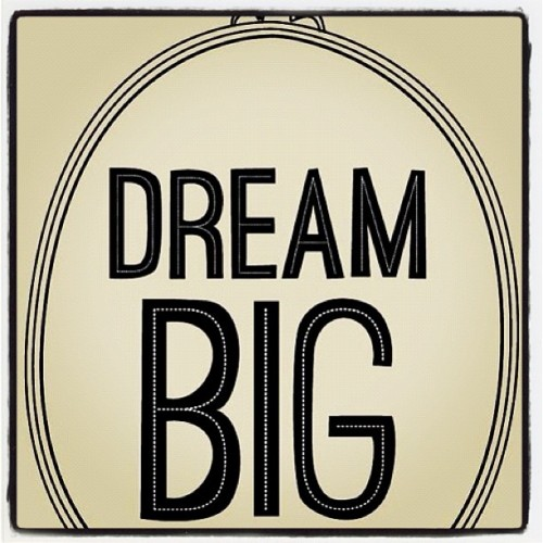 So Dream BIG! #inspiration via @Maybelline #typography #bestoftheday #igers (Taken with Instagram)